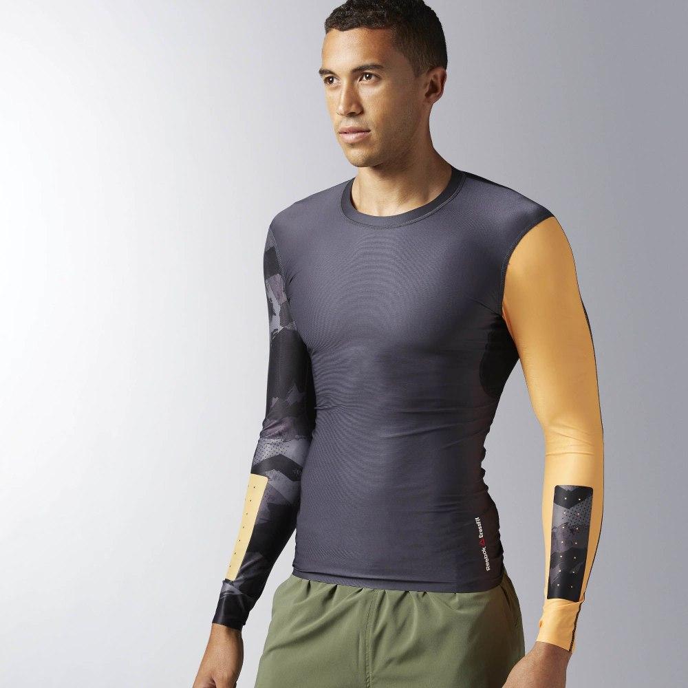 Компрессионная футболка с длинным рукавом Reebok CrossFit Long Sleeve M  BK1068  d4115ff3dc71b