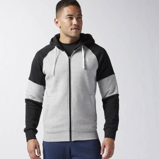 Толстовка F FZ FLEECE BLOCKED HOODY Mens Reebok